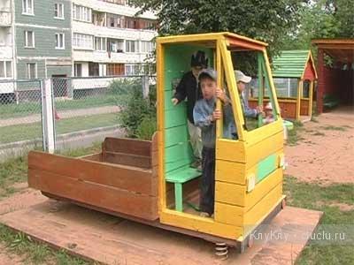 Машинки для детской площадки детского сада своими руками