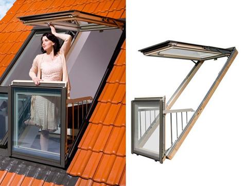 Чердачное окно-балкон