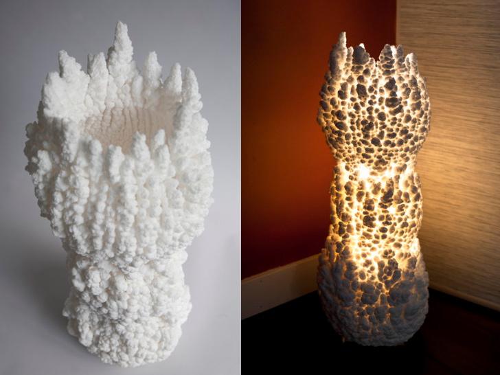 Cветильники из соли