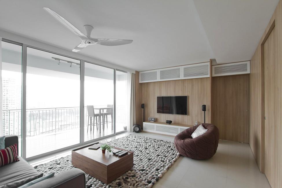 Дизайн квартиры в сингапурской высотке